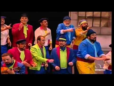 Sesión de Cuartos de final, la agrupación La cazuela actúa hoy en la modalidad de Coros.