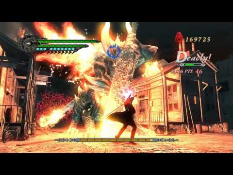 [HD] Devil May Cry 4 Gameplay - Nero vs Berial Dante Must Die Mode No Damage