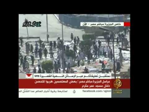 فيديو سباب الظباط للمعتصمين داخل مسجد عمر مكرم