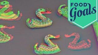 Taylor Swift-Inspired Snake Macarons   Food Network - FOODNETWORKTV