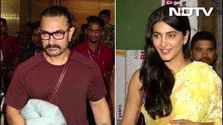 Celeb Spotting: ...जब कैमरे में कैद हुए आमिर खान, स्वरा और श्रुति हासन - NDTVINDIA