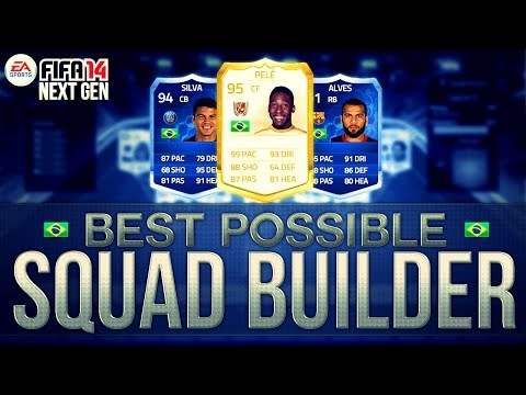 BEST POSSIBLE BRAZIL TEAM! w/ PELE and TOTY CARDS | FIFA 14 Ultimate Team Squad Builder
