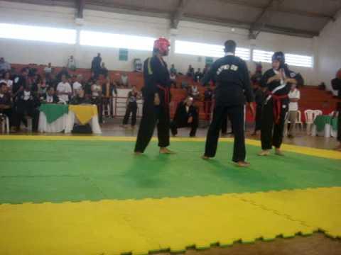 Luta de Daniela no Brasileiro de hapkido