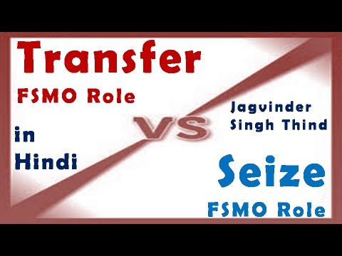 Active Directory Server 2008 Part 26 FSMO Roles 8 Transfer Vs Seize in Hindi by JagvinderThind