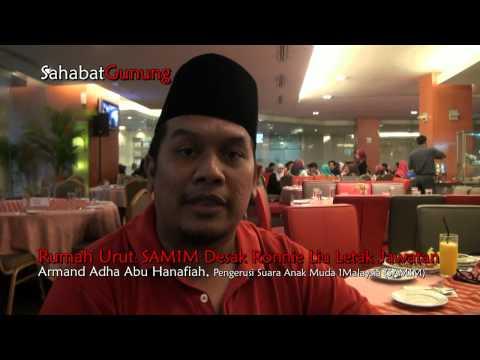Isu Rumah Urut : SAM1M Desak Ronnie Liu, Kepimpinan Selangor Letak Jawatan