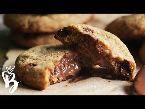 كوكيز نوتيلا هش ولذيذ | Nutella Stuffed Cookies - حواء توداي