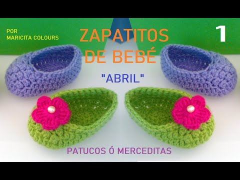 Crochet Tutorial Zapatitos Bebe