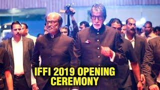 IFFI 2019 Goa  Superstar Rajinikanth &  Amitabh Bachchan Grand Entry - RAJSHRITELUGU