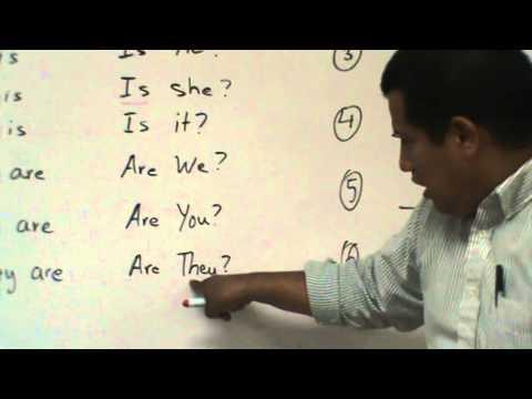 El uso del verbo To Be en una pregunta en Inglés