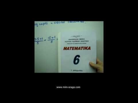 Matematika 6 -zbirka potpuno riješenih zadataka za samostalno učenje za šesti razred vj.br.2