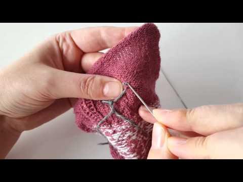 Tradycyjne estońskie rękawiczki - kciuk
