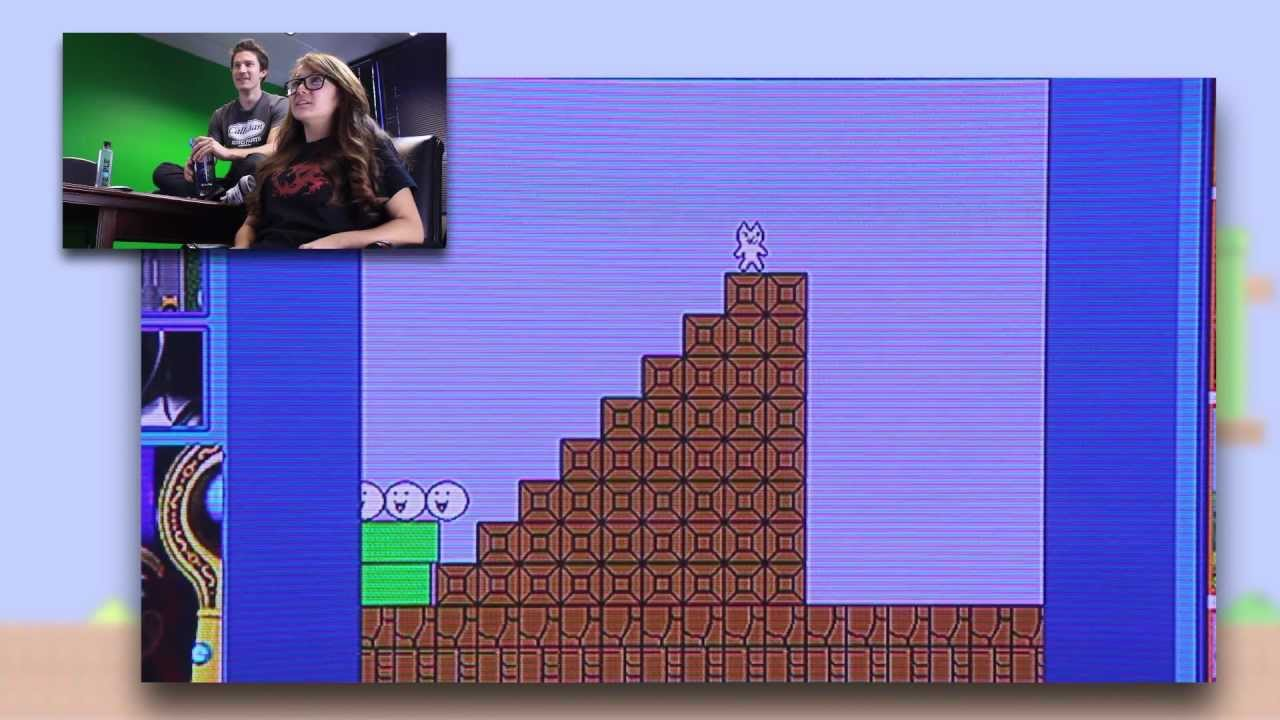 The Infuriating Cat Mario - Challenge Attack 1