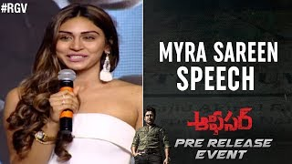 Myra Sareen Speech | Officer Pre Release Event | Nagarjuna | RGV  | Ram Gopal Varma | #Officer - RGV