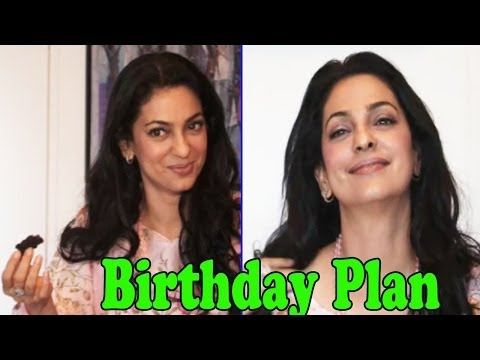 Juhi Chawla Celebrating Her Birthday With Family & Friends