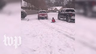 'Snow in the South': Southerners use improvised sleds - WASHINGTONPOST