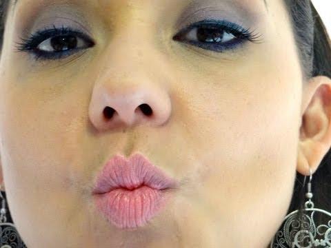 Maquiagem Roxo e Azul