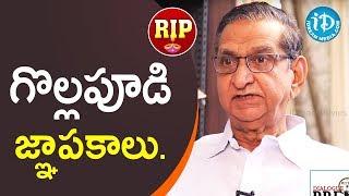 Remembering Gollapudi Maruti Rao   RIP   iDream Telugu Movies - IDREAMMOVIES