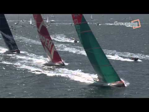 Charles Caudrelier - VOR12 Lorient In-port  Victoire de Groupama 4 !