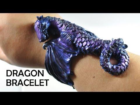 """Браслет """"Дракон"""" своими руками, из полимерной глины"""