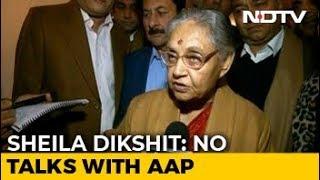 Sheila Dikshit Cites Rajiv Gandhi To Dismiss Talk Of Alliance With AAP - NDTV