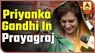 I wished for peace in India, Priyanka Gandhi after offering prayers at Lette Hanuman temple - ABPNEWSTV