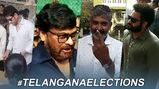 Tollywood Celebrities Cast Their Votes | #TelanganaElections2018 | TFPC - TFPC