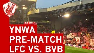 Aficionados del Liverpool y Dortmund cantaron juntos