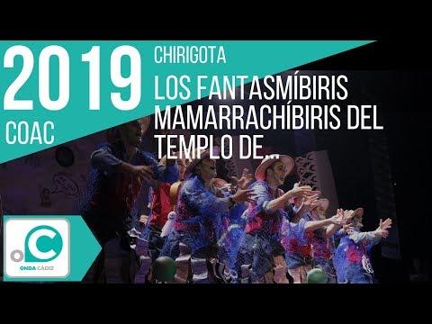 Sesión de Cuartos de final, la agrupación Los fantasmibiris mamarrachibiris del templo de las coplibiris actúa hoy en la modalidad de Chirigotas.