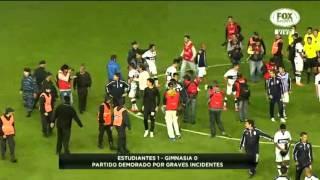 Video: Golpiza entre jugadores de Estudiantes y Gimnasia