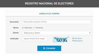 COMO CONSULTAR EL PADRON PROVISORIO 2015 ARGENTINA