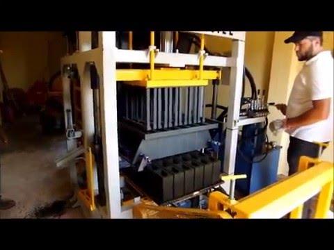 Máquina de blocos de concreto_Capacitação para fabricação de blocos