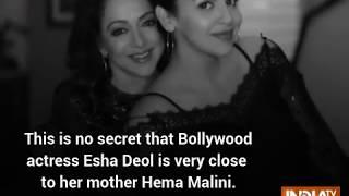 Daughter Esha Deol posts heartfelt wish for mommy Hema Malini on her 70th birthday - INDIATV