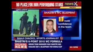 NewsX Exclusive Ravi Shastri reveals World cup blueprint - NEWSXLIVE