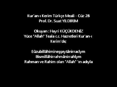 Kur'an-ı Kerim Türkçe Meali - Cüz 28