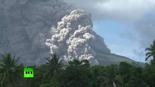 Philippines volcano explodes with ash, hazardous eruption possible (Time lapse video) - RUSSIATODAY