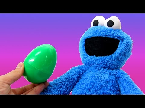 Surprise Eggs unboxing Surprise Egg Toys Huevo kinder Sorpresa Disney Cookie Monster