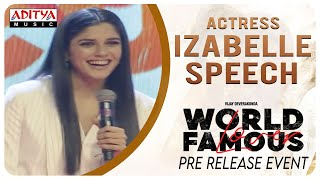 Actress Izabelle Speech @ #WorldFamousLover Pre Release Event LIVE | Vijay Deverakonda - ADITYAMUSIC