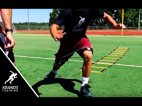 Athlete Ladder Reaction Drill