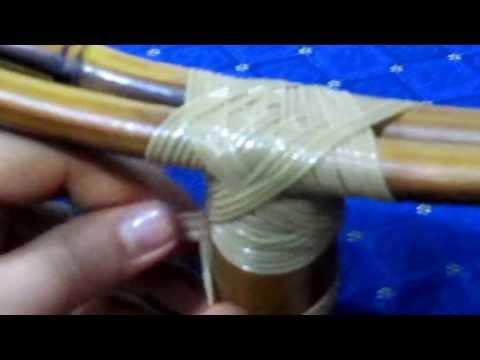 Como realizar un nudo / amarre en varas de Bambú / Guadua.