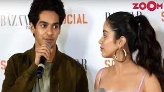 UNCUT Ishaan Khatter & Janhvi Kapoor Candid At Magazine Launch | Dhadak Promotion - ZOOMDEKHO