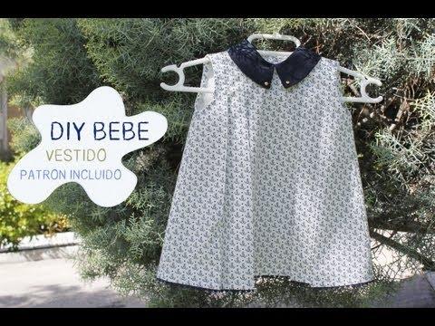 DIY Ropa bebé: Vestido marinero de niña con patrón incluido