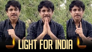 Akkineni Nagarjuna Request People To Follow Light For India - TFPC