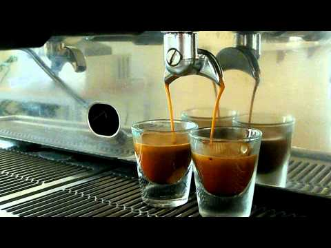 Astoria Argenta SAE 3 Commercial Espresso Machine Pulling a Double