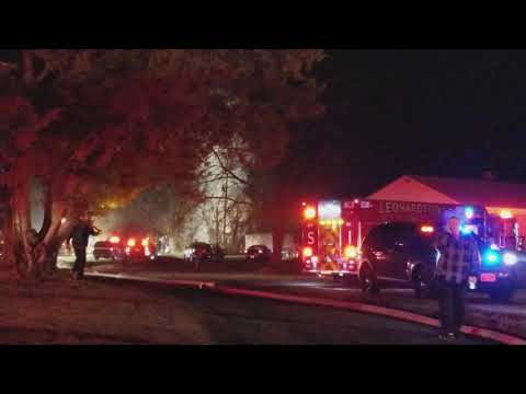 House fire in Loveville Md