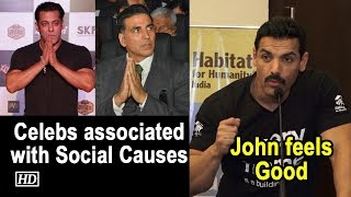 John feels nice to see B'wood celebs associated with Social causes - BOLLYWOODCOUNTRY