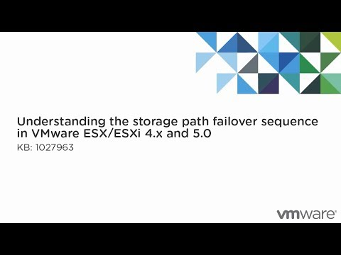 Understanding the storage path failover sequence in VMware ESX/ESXi 4.x and 5.0