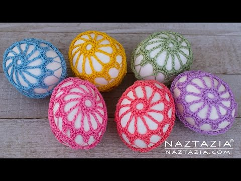 DIY Tutorial - How to Crochet an Egg - Lace Covered Eggs - Collab with Lorrie Popow