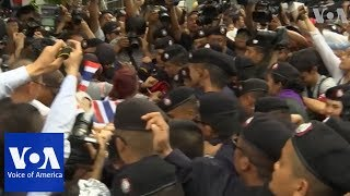 Demonstrators mark 4th anniversary of military overthrow of elected government in Thailand - VOAVIDEO