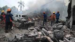 RAW: Giant Indonesia C-130 Hercules military plane crashes in residential area of Medan - RUSSIATODAY