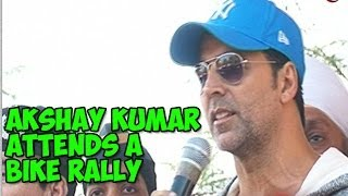 Akshay Kumar attends a bike rally